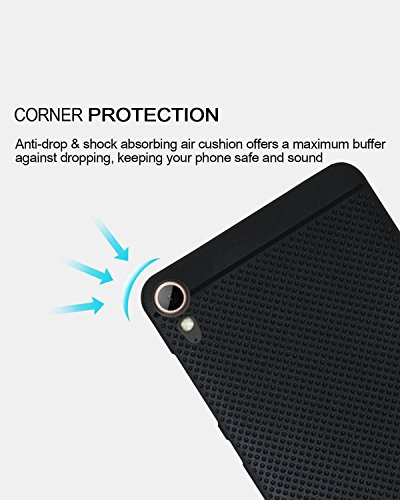 Jkobi 360* Protection Premium Dotted Designed Soft Rubberised Back Case Cover For HTC Desire 830 dual sim -Black