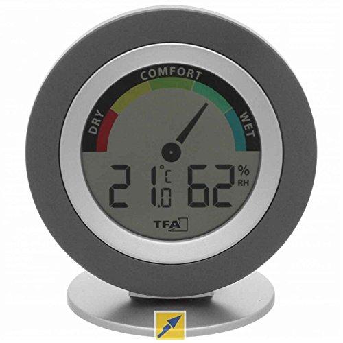 Preisvergleich Produktbild TFA COSY Digitales Thermometer THERMO Hygrometer (inkl Batterie) schwarz silber 30501901