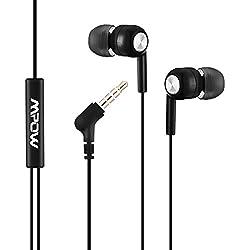 (Cable) Mpow Auriculares con Cable y Micrófono In ear Estéreo 3.5mm, Control Remoto para Móvil, Reproductor MP3 Smartphones Huawei XiaoMi iPhone 6 6s