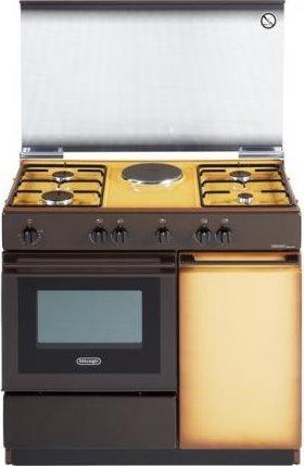 DeLonghi SEK 8541 N Piano cottura Combi B Marrone, Giallo cucina