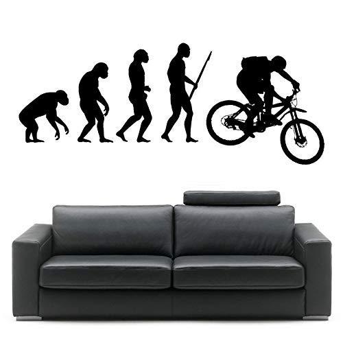 Darwin Evolution Des Menschen Mountainbike Kunst Design Home Dekorative Vinyl Wandbild Kreative Wall St 57 * 143 Cm