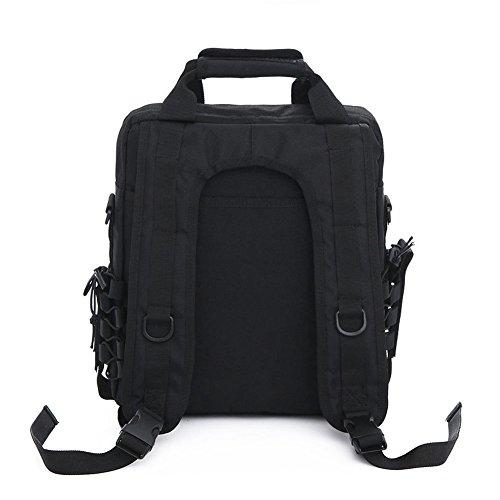 aiyuda Herren Utility Camouflage EDC Military Assault MOLLE TACTICAL Rucksack Tasche für Laptop Kompaktes Polizei-Set Organizer Messenger schwarz - schwarz