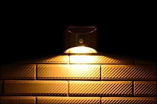 XYQY Led Solar Light Outdoor Wandleuchte für Garten Terrasse Weg Zaun Treppe Edelstahl mit Bewegungssensor 2pcs Ce Warm White