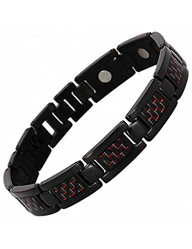 Axstore Market Herren-Magnetarmband Titan mit starken Magneten Einstellwerkzeug und Geschenkbox