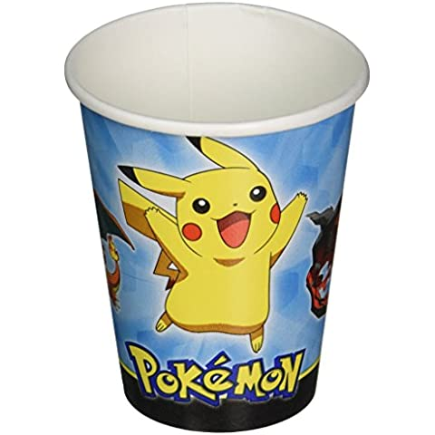 Amscan International – 581844 266 ml vasos de papel Pokémon