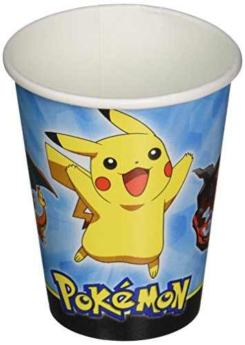 amscan-international-581844-pokemon-266-ml-bicchieri-di-carta