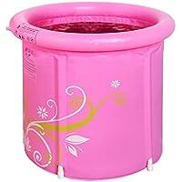 Bañeras El Rosa Plegable Inflable portátil, Espesa el tamaño Adulto de Las tinas de inmersión
