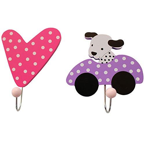 Preisvergleich Produktbild JaBaDaBaDo Gaderobe Wandhaken 2er Set Pink Dekoration Kinderzimmer