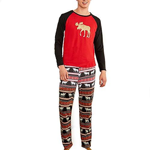 Familie Weihnachten Pyjamas Gold Elch Druck Baby Kinder Mama Papa Schlafanzug Familie Nachtwäsche Passende Kleidung Dad XL
