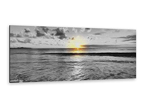 Alu-Dibond Bild ALP12501134 LANDSCAPE OCEAN I 125 x 50cm Butlerfinish® Edel gebürstetes Wandbild, Metall effekt Eyecatcher!