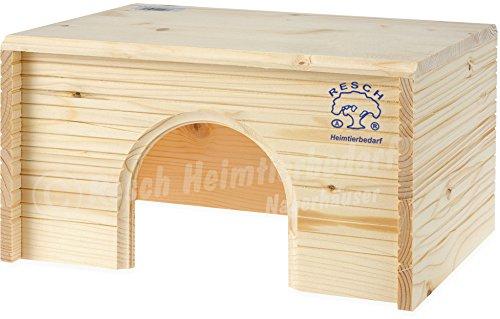 """Resch Nr08 Meerschweinchen """"Blockhaus"""" naturbelassenes Massivholz aus Fichte / im gemütlichen Blockhaus Design, mit großem Eingang (Misc.)"""