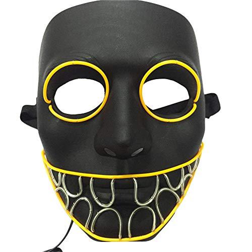 Innerternet Panic LED Halloween Maske Spüldraht Leuchten Masken eleuchtung Maske Scary Maske Leuchtenden Schädel EL Draht Leuchtmaske Fest Karneval Kostüm Party für Männer Frauen