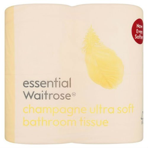 Ultra Soft WC Tissue champagne Essential Waitrose 4Pro Pack Case Of 4