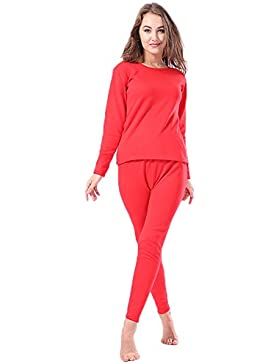Conjunto térmico - para mujer Fleece Lined Top Bottom 2pc