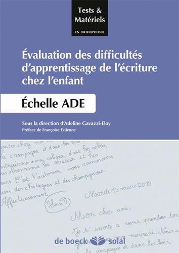 valuation-des-difficults-d-39-apprentissage-de-l-39-criture-chez-l-39-enfant