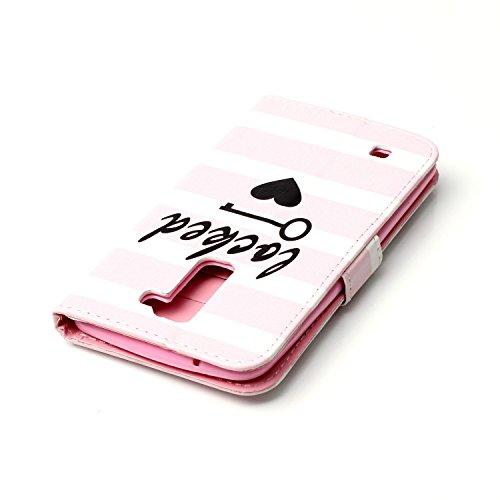 Voguecase® Pour Apple iPhone 5C Coque, Etui Housse Cuir Portefeuille Case Cover (Licorne 01)de Gratuit stylet l'écran aléatoire universelle LOCKED 01