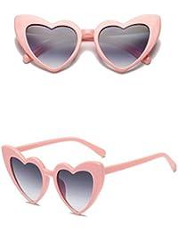 Meliya Sonnenbrille Mental Rahmen Herz Form Polarisierte Sonnenbrille UV400preotection Eyewear mit Fall, bunt
