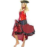 Nick and Ben Piratin Kostüm-Set für Kinder und Frauen   Verkleidung für  Karneval   f57f75cf80