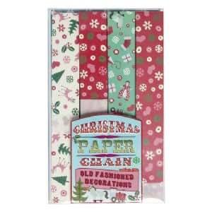 Shabby deko papier girlande christbaumschmuck wd49 for Deko amazon