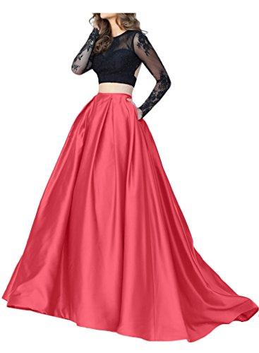 Promgirl House - Robe - Trapèze - Femme Rouge - Wassermelone Schwarz