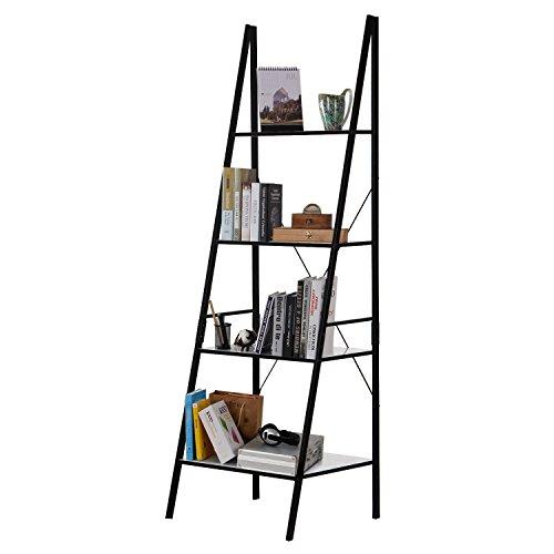 Lifewit Scaffale Libreria Portatutto a 4 RipianiScaffale Porta Oggetti in Acciaio al Carbonio per Ingresso Studio Camera da Letto Salotto Bianco