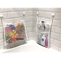 Scarlet Gem Bath Tidy Storage – Premium Toy Tidy Organiser Net Mesh Bags with Multiple Pockets and Strong Suction Cups