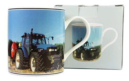 bleu tracteur TASSE EN PORCELAINE FINE