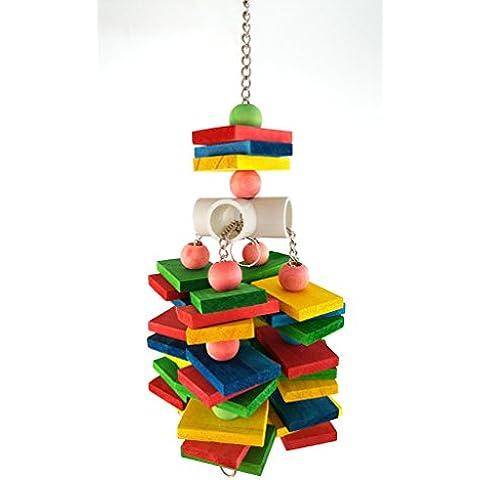 Cuerda de algodón en color madera de aves juguetes de metal Botella gancho cuerda de algodón Chew duradero no tóxicos juguetes loro estación