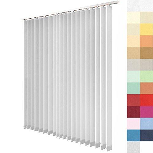 Lamellenvorhang nach Maß, 27 Farben, alle Größen, Lamellen, Maßanfertigung, Schiebevorhang, ohne Deckenschiene, Vertikaljalousie, 89 mm (Grau, Höhe: 160cm x Breite: 151,3cm = 17 Lamellen)