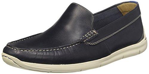 Clarks Karlock Lane 26115437 Herren Slip On, blau (Navy Leather), 44 EU
