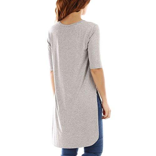 La Modeuse - T-shirt femme à manches courtes Gris