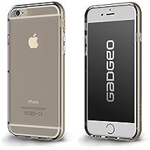 La Carcasa Transparente para iPhone 6 Plus con Bumper Potector | Carcasa para iPhone 6 Plus de Dos Piezas Delgadas Policarbonato y TPU de Silicona Transparente Blanda | La Carcasa para iPhone 6 Plus de GADGEO incluye Lámina Protectora de Pantalla