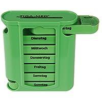 Medikamentendosierer Pillenbox Tablettenbox grün 1 Stück Pillendose Medikamentenspender 7 Tage Original Tiga-Med... preisvergleich bei billige-tabletten.eu