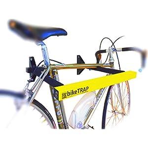 Candado y soporte antirrobo de pared para bicicletas bikeTRAP de alta seguridad. Guarda con tranquilidad tu bici !