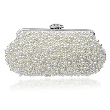 Woman Fashion Luxus Hochwertige Imitation Pearl Diamonds Abend Tasche White