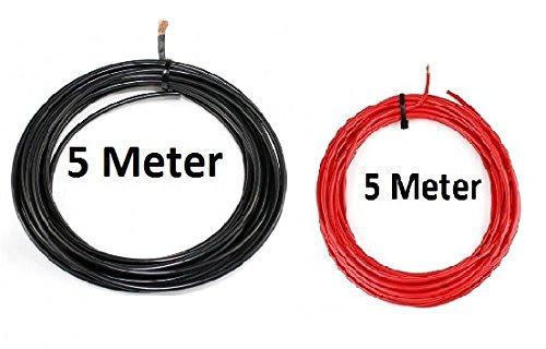Preisvergleich Produktbild KFZ Universalkabel - FLRY Typ B - 4mm² - Set - Schwarz - Rot 5 Meter ( 1, 89 € pro Meter )