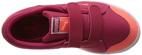 Puma Stepfleex Mesh V Kids, Baskets Basses mixte enfant Rose - Pink (04 virtual pink-fluro peach)
