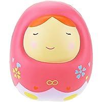"VLAMPO Squishies Bambola russa profumata Squishy Slow Rising Stress Decoration Toys 6.3 "" (rosa)"