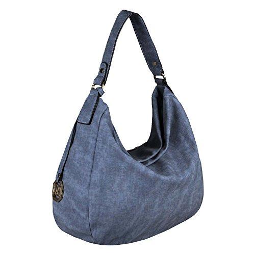 Obc Ladies Bag Shopper Hobo Bag Tote Bag Borsa A Spalla Borsa A Tracolla Borsa Crossover Borsa Crossbag Borsa Borsa Da Viaggio Borsa (blu Scuro 35x29x10 Cm) Blu Scuro 40x33x13 Cm