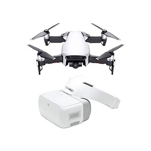DJI Mavic Air Artic + Googles - Drone plegable y portátil, alta prestación de vuelo, diseño elegante, fot y vídeo en alta definición - Blanco