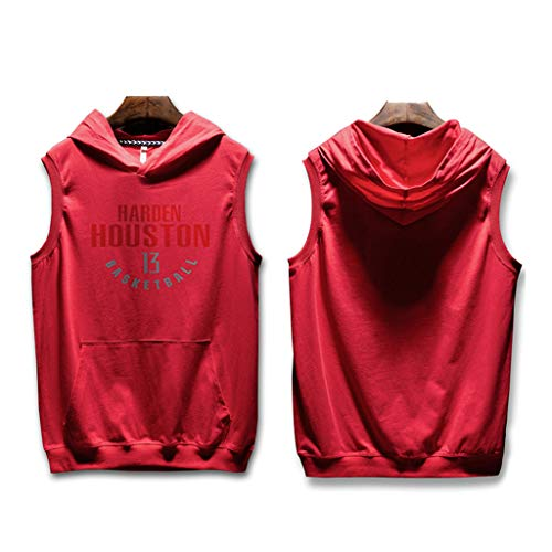 7ba3f100c1c7f8 Fitness Hip Hop Houston Rockets James Harden Ärmelloses Mit Kapuze T-Shirt  Straße Basketball Uniform