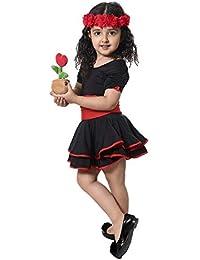 Vestito da ballo per bambini Balletto Latin Rumba Samba Dress Gonne  Dancewear Girls Kids 3 - 4461b0c4258