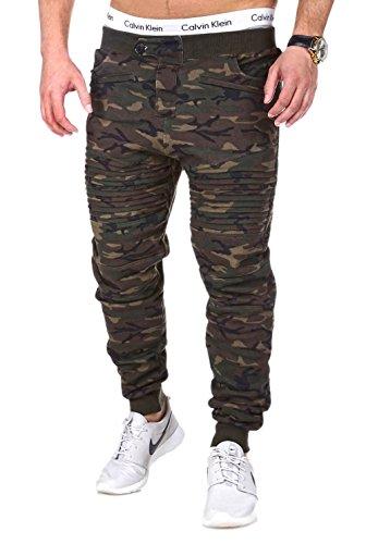 MT Styles Trainingshose Bike Camouflage Khaki MA-2098 [M]