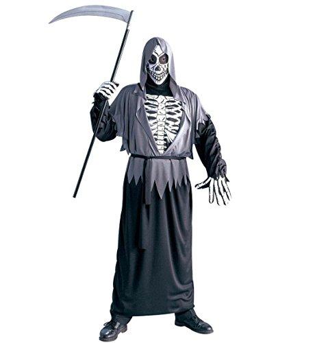 Widmann 39642 - Halloween Kostüm Henker mit Skelett Reaper Sensenmann Tod