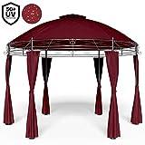 Tonnelle Toscana Rouge 3,5 m - Pavillon - Tente de jardin - Barnum rond Jardin