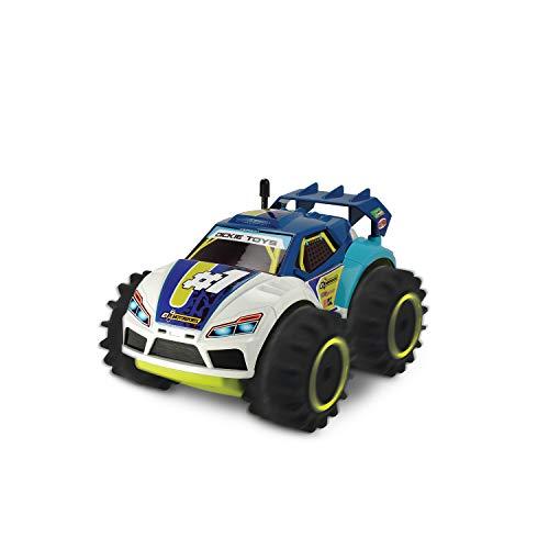 Dickie Toys 201119132 201119132-RC - Veicolo Amphy Rider, radiocomandato, 2 canali, trazione Integrale, Rotazione a 360°, 20 cm, Colore: Blu/Bianco/Giallo