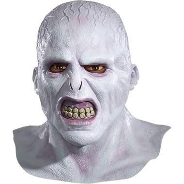 Deluxe Voldemort Latex Maske aus dem Harry Potter Film Horrormaske zu Halloween Karneval