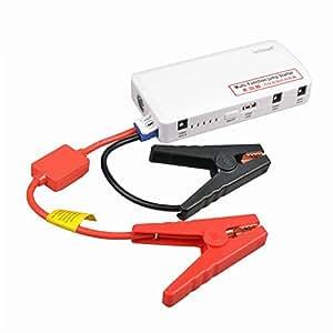 ieGeek® 5-IN-1 Mini 15000mAh [12V/ 5V/ 19V, 2A/ 3.5A] Booster Portable Démarreur Batterie De Véhicule Multi-fonction/ Chargeur Portable Batterie Externe pour iPhone, Ipad/ Éclairage LED Ajustable