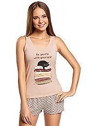 oodji Ultra Femme Pyjashort Imprimé