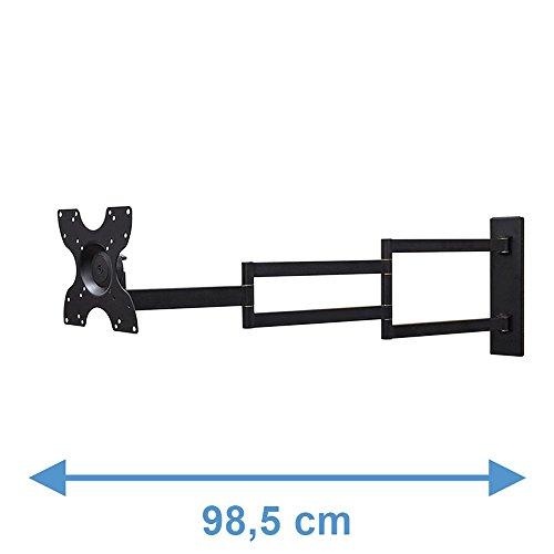Schwarz TV Wandhalterung - Empfohlene TV-Größe: 15